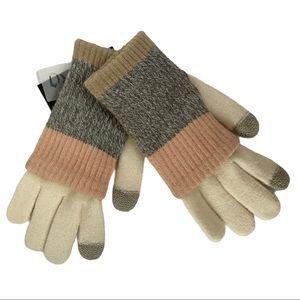 Steve Madden Multi Stripe Purl Knit Gloves
